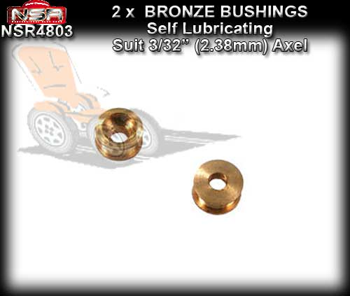 "NSR AXLE BUSHES 4803 - Bronze Bushes for 3/32"" 2.38mm"