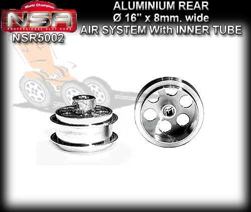 NSR WHEELS 5002 - 16 x 8mm Rear Aluminum Air System