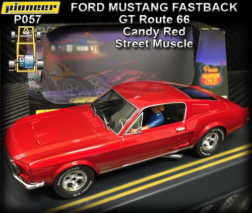 PIONEER P057 - Ford Mustang Fastback 1968 - Candy Red