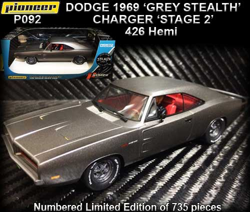PIONEER P092 - 1969 Dodge Charger 'GREY STEALTH' Stage 2