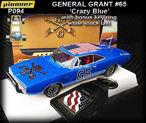 PIONEER P094 - 1968 Dodge Charger - The General Grant Crazy Blue