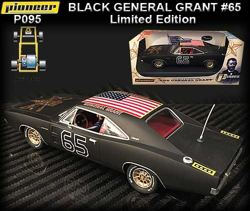 PIONEER P095 - 1968 Dodge Charger -The General Grant Shady Black