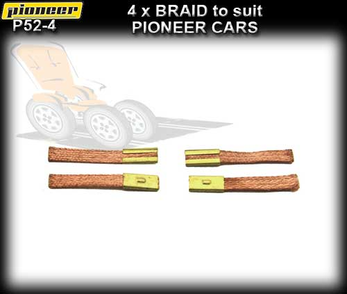 PIONEER BRAID P52-4 - medium soft copper braid x 4