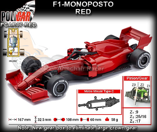 POLICAR CAR07-RED - F1 Monoposto - red body