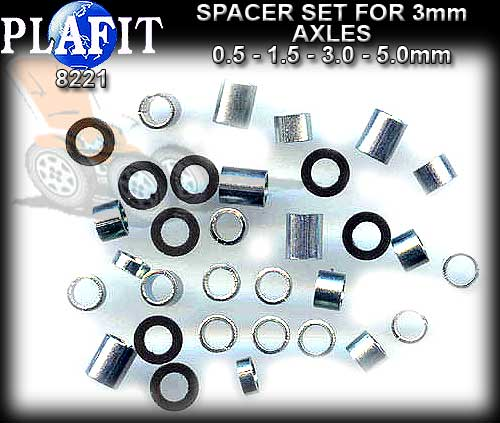 PLAFIT AXLE SPACER SET 8221 - 3mm Axle Spacet Set