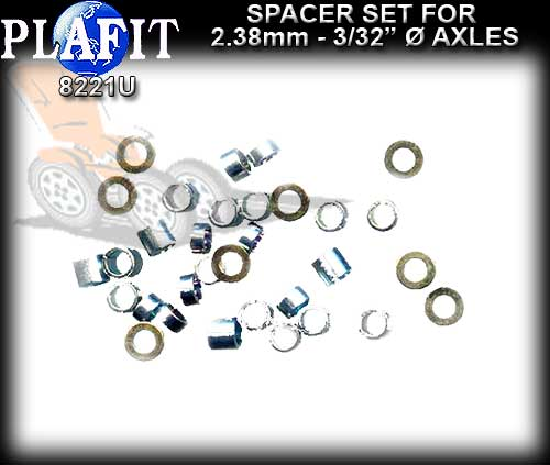 "PLAFIT AXLE SPACER SET 8221U - 2.38mm (3/32"") Axle Spacet Set"