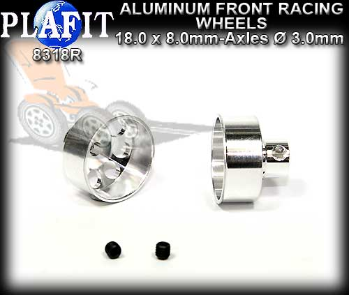 PLAFIT WHEELS FRONT ALUMINUM RACING 8318R - 18 x 8mm