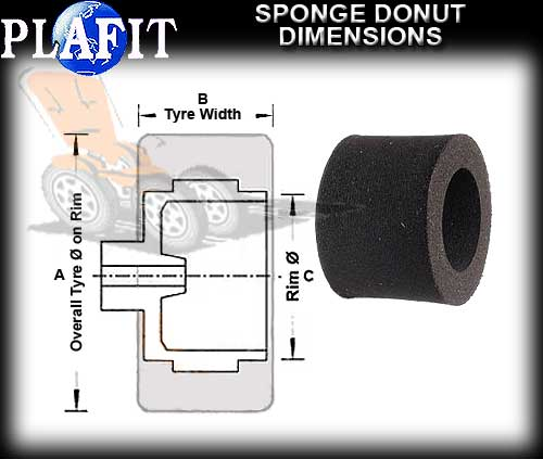 PLAFIT TYRES 8409 - Front Sponge Donuts 29 x 8.5mm