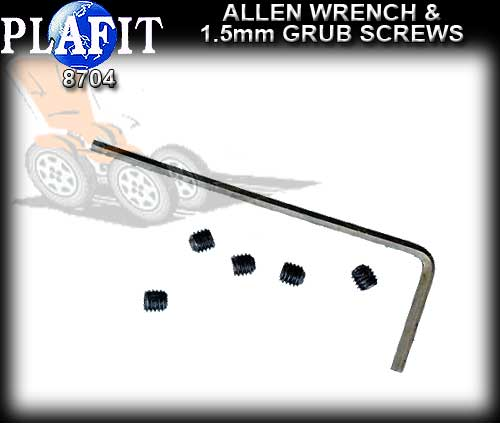 PLAFIT TOOLS 8704 - Allen Wrench + 5 M3 Hex Screws