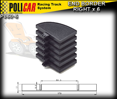 POLICAR TRACK P060-6 - 6 x End Border - Right
