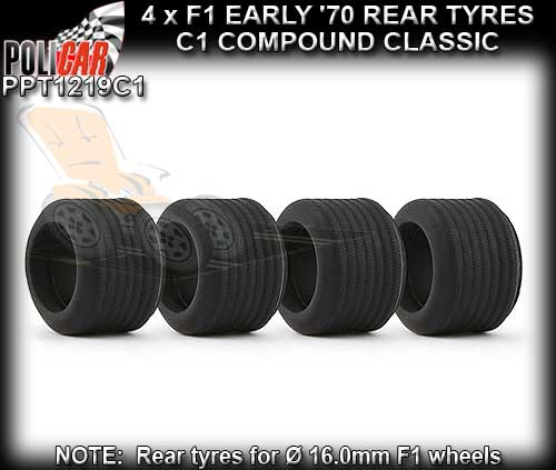 POLICAR TYRES PPT1219C1 - 4 x F1 Classic Tyres C1 Compound