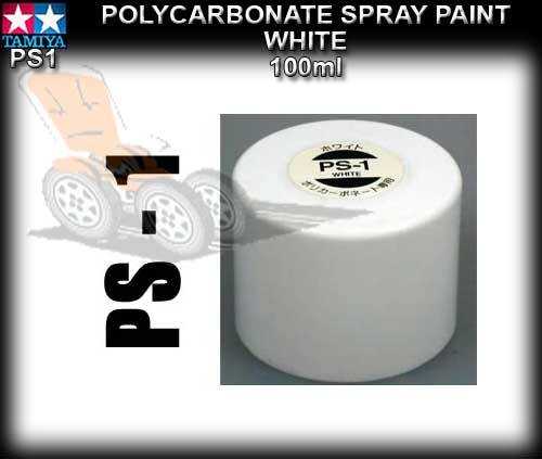 TAMIYA SPRAY PAINT POLYCARBONATE PS1 - 100ml White