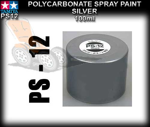 TAMIYA SPRAY PAINT POLYCARBONATE PS12 - 100ml Silver