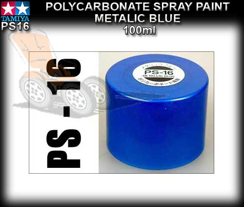 TAMIYA SPRAY PAINT POLYCARBONATE PS16 - 100ml Metalic Blue