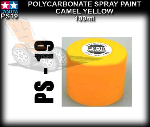 TAMIYA SPRAY PAINT POLYCARBONATE PS19 - 100ml Camel Yellow
