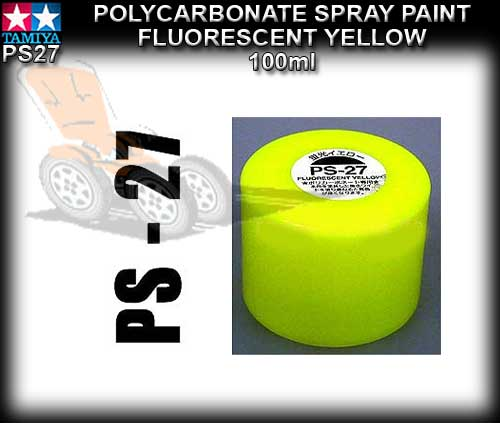 TAMIYA SPRAY PAINT POLYCARBONATE PS27 - 100ml Fluorescent Yellow