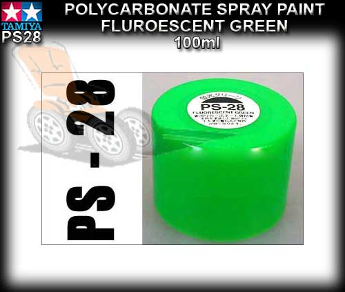 TAMIYA SPRAY PAINT POLYCARBONATE PS28 - 100ml Fluorecent Green