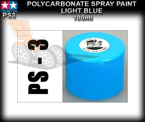 TAMIYA SPRAY PAINT POLYCARBONATE PS3 - 100ml Light Blue