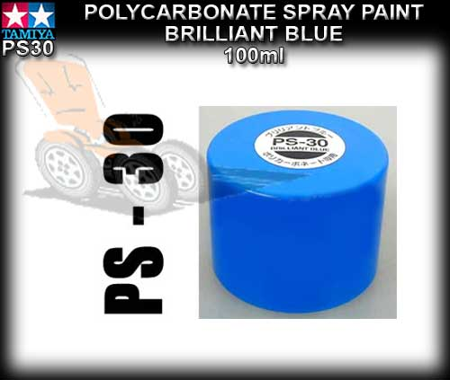 TAMIYA SPRAY PAINT POLYCARBONATE PS30 - 100ml Brilliant Blue