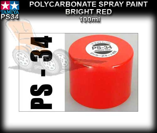 TAMIYA SPRAY PAINT POLYCARBONATE PS - 100ml Bright Red