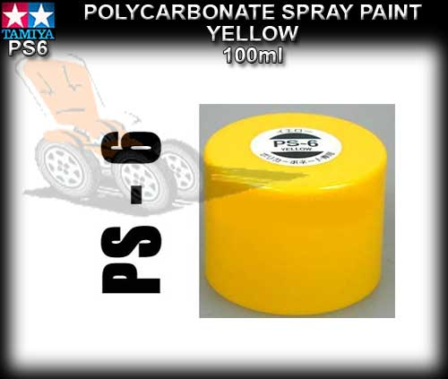 TAMIYA SPRAY PAINT POLYCARBONATE PS6 - 100ml Yellow