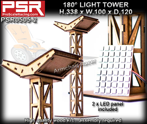 PRO SCALE RACING SCENERY PSR0505-2 - Double Light Tower