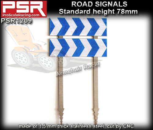 PRO SCALE RACING SCENERY PSR1209 - Road Sign - Curve 2