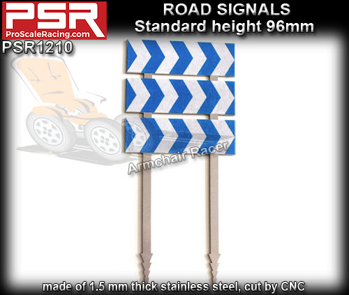 PRO SCALE RACING SCENERY PSR1210 - Road Sign - Curve 3