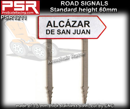 PRO SCALE RACING SCENERY PSR1211 - Road Sign - Town Entrance