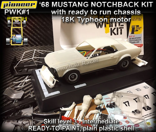 PIONEER PWK#1 - Mustang Notchback 1968 - White kit
