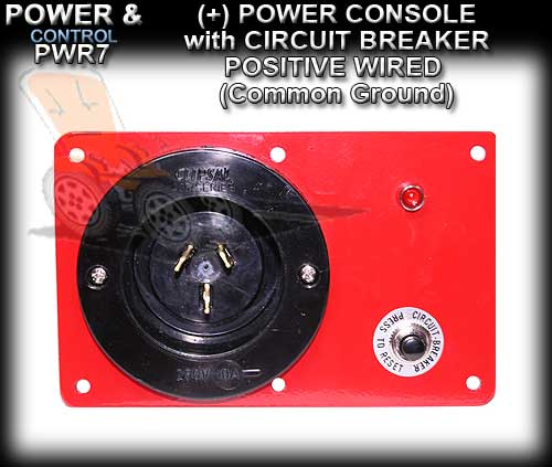 POWER CONSOLE PWR1C - Positive wired (+) with Circuit Breaker