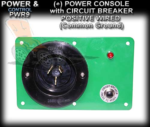 POWER CONSOLE PWR3C - Positive wired (+) with Circuit Breaker
