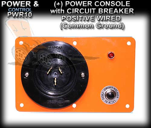 POWER CONSOLE PWR4C - Positive wired (+) with Circuit Breaker