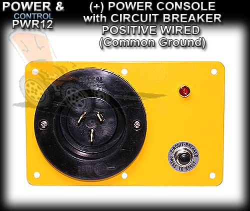 POWER CONSOLE PWR6C - Positive wired (+) with Circuit Breaker