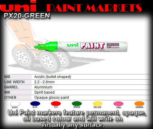 PAINT PEN PX20 GREEN - Medium Oil Paint Marker