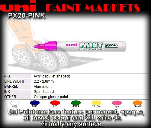 PAINT PEN PX20 PINK - Medium Oil Paint Marker
