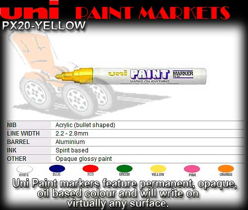 PAINT PEN PX20 YELLOW - Medium Oil Paint Marker
