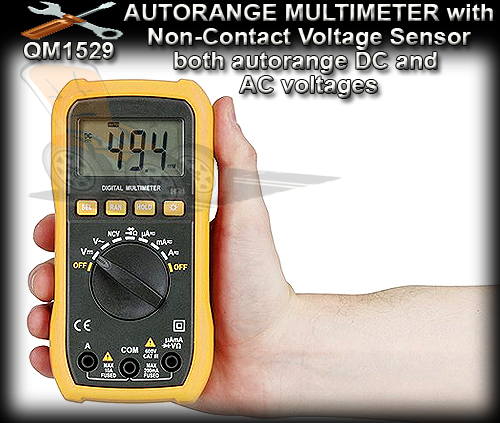 MULTIMETER QM1529 - Autorange Digital Multimeter