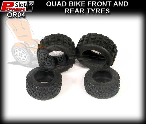 POWERSLOT TYRES QR04 - Quad Bike Front and Rear Tyres