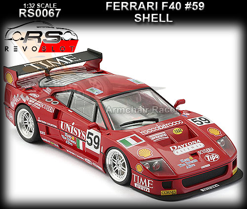 REVO SLOT RS0067 - Ferrari F40 - Shell #59