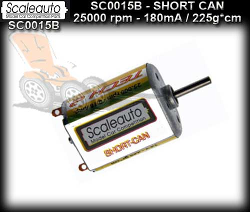 SCALEAUTO MOTOR SC0015B - 25000 rpm Short Can Sealed Endbell