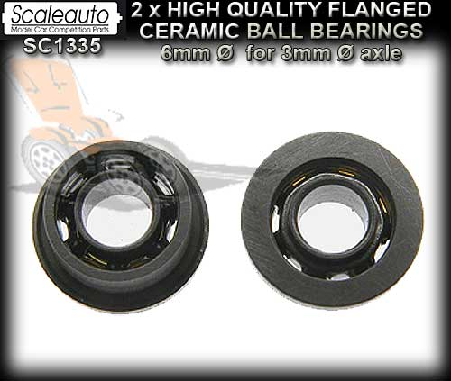 SCALEAUTO AXLE BEARINGS SC1335 - Flanged Cermanic Ball Bearings