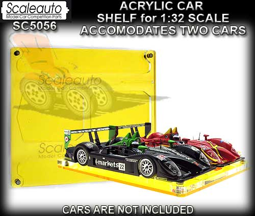 SCALEAUTO SC5056 - Acrylic car shelf for 2 cars - 1:32 scale