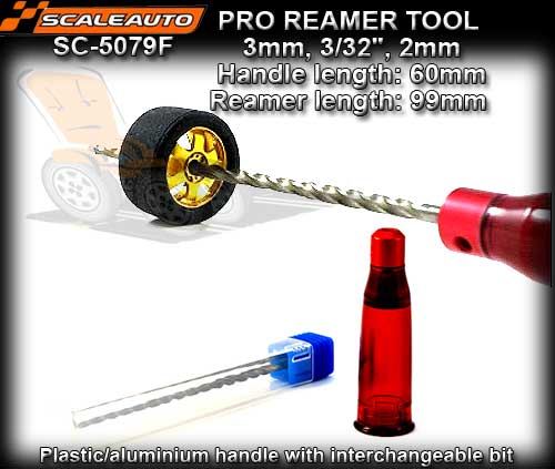 "SCALEAUTO REAMER SC5079F Pro Reamer 2mm; 2.38mm (3/32"") and 3mm"
