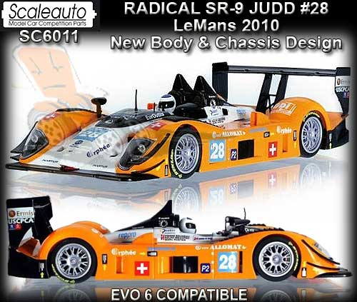SCALEAUTO SC6011 - Radical SR-9 Le Mans 2010 - Race Performance