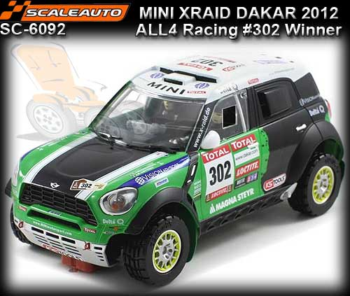 SCALEAUTO SC6092 - Mini All 4 Racing - 1st Dakar Rally 2012 #302