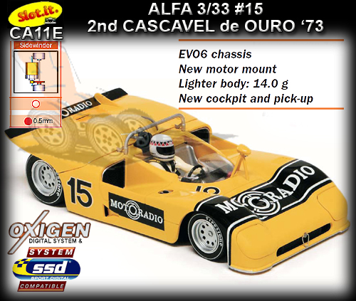 SLOT.IT CA11E - Alfa Romeo 33/3 - Cascavel de Ouro 1973