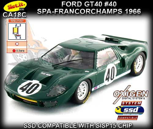 SLOT.IT CA18C - Ford GT40 Spa Francorchamps 1966 #40