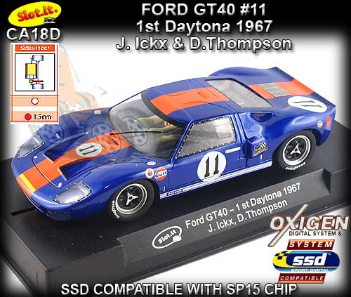 SLOT.IT CA18D - Ford GT40 - 1st Daytona 1967 #11