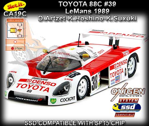 SLOT.IT CA19C - Toyota 88C - 24hr Le Mans 1989 #38